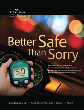 "Cover of our report called ""Better Safe Than Sorry."""