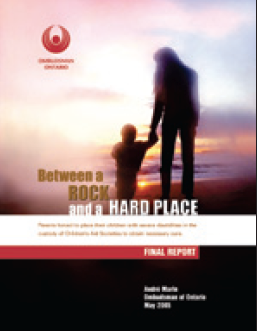 cover image of Between a Rock and a Hard Place report