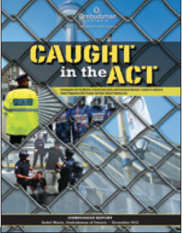 cover image of Caught in the Act report