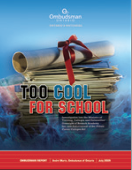 cover image of Too Cool for School report