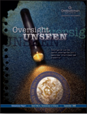 Image of Oversight Unseen report cover