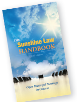 Image of The Sunshine Law Handbook cover