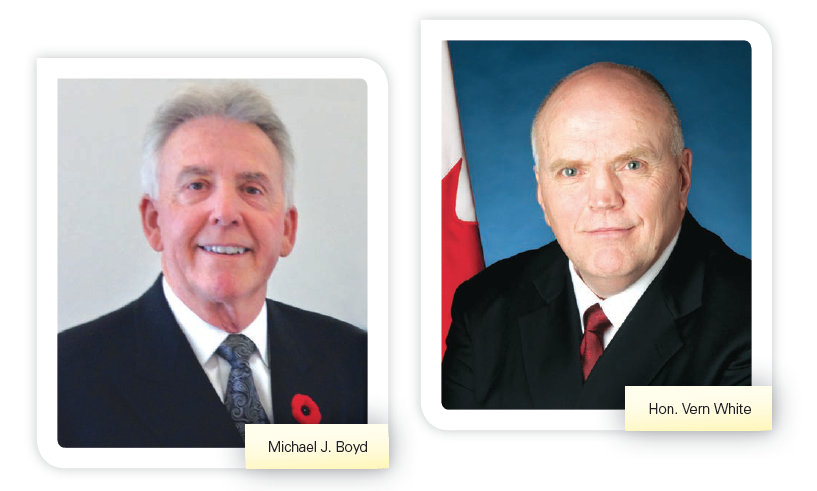 Photos of Michael J. Boyd and Hon. Vern White