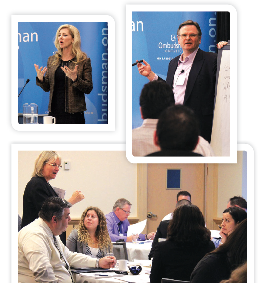 Participants at SYT Toronto in January 2014 learn about investigation techniques from SORT Director Gareth Jones (top right), Director of Investigations Sue Haslam (top left), and Senior Counsel Wendy Ray (standing, bottom).