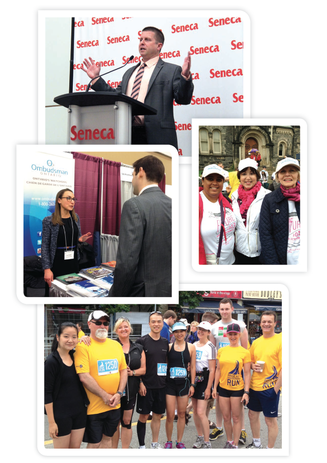 Photos from Run for the Cure, the Ombudsman's Seneca speech, and the OBA outreach event