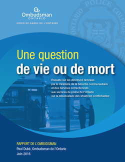 Couverture du rapport Une question de vie ou de mort
