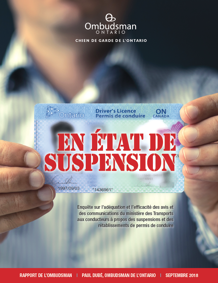 En Etat De Suspension Ontario Ombudsman