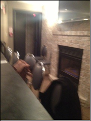 Photo of Billy T's back room and fire exit