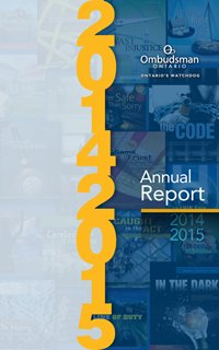 The Ombudsman's 2014-2015 annual report (image of the cover)