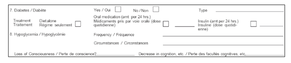 Figure 3: Excerpt from the Medical Report form. A full copy of this form appears at Appendix E.