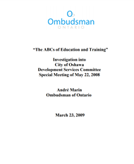 cover of The ABCs of Education and Training report