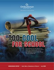 Cover of report, Too Cool for School