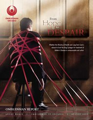 Cover of report, From Hope to Despair