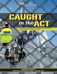 Cover of report, Caught in the Act