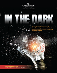 Cover of Ombudsman report, In the Dark