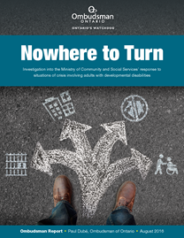 image of Nowhere to Turn report cover