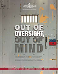 cover image of Out of Oversight, Out of Mind report