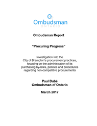 cover of Procuring Progress report