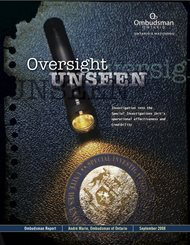 cover image of the Oversight Unseen report