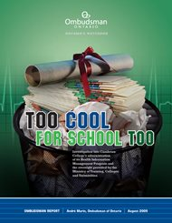 Cover of report, Too Cool for School Too