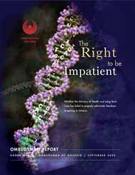 Cover of report, The Right to be Impatient