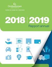 couverture du rapport annuel 2018-2019 d'Ombudsman Ontario