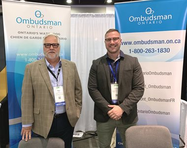 August 18, 2019: Ombudsman Paul Dubé and staff at the Association of Municipalities of Ontario's annual conference, Ottawa.
